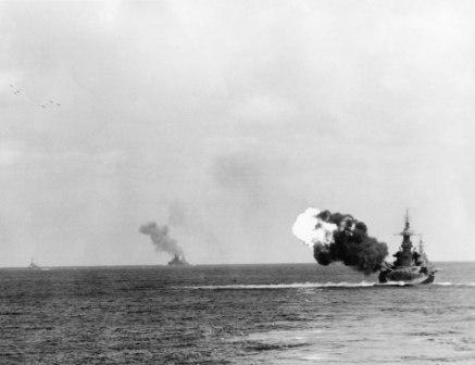 Okinawa six projectiles in air