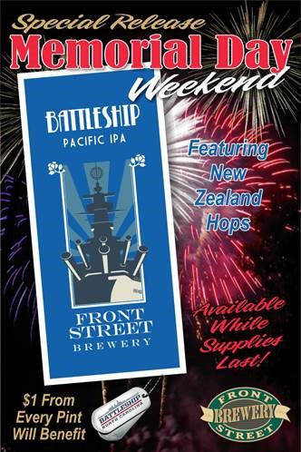Battleship Pacific IPA available at Front Street Brewery while supplies last